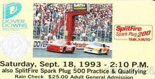 1993 Splitfire Spark Plug 200 Dover NASCAR ticket stub Todd Bodine Win