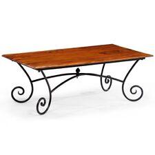 vidaXL Solid Sheesham Wood Coffee Table With Curled Legs 110x60x39cm Furniture