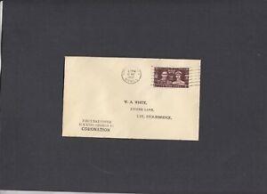 1937 Coronation unusual Display FDC Stourbridge wavy line cancel. Cat £40