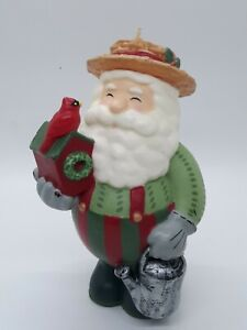 """Bath and Body Works WHITE BARN Candle Co. Santa Claus Figural Wax CANDLE 7"""""""
