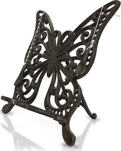 Cast Iron Butterfly Cookbook Stand And Holder - Vintage Stand For Kitchen Book,