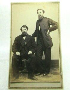 Civil War Era CDV Photo Jesse Whitehurst Gallery 2 Gentlemen Revenue Stamp
