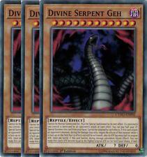 3x CYHO-EN092 Divine Serpent Geh -Common NM- Yugioh! Cybernet 1st Edition
