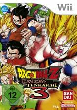 Nintendo Wii DRAGONBALL Z BUDOKAI TENKAICHI 3 * ottime condizioni