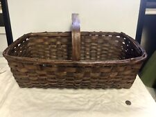 Big Northern Antique Split Oak Basket-Great  Patina Harvest Basket Primitive