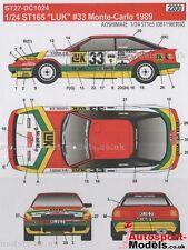 1/24 1989 Toyota Celica ST165 LUK #33 Monte Carlo decal set Studio 27 DC1024