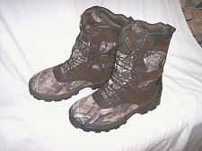 Mens 14 Camo Boots Insulated Hunting Boots Leather 1000g Waterproof Boots $140