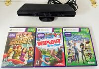 Xbox 360 Kinect Bundle /  3 Games - Sports Season 2 - Adventures - Wipe Out