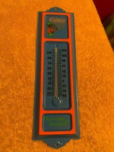 """vintage tin O""""BABY Chocolate Drink Thermometer advertising sign black americana"""