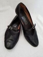 Salvador Ferragamo Audrey Italy Black Kidskin Leather Ballet Flats Womens 5.5 B