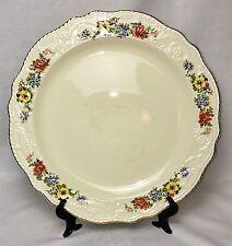 """Adam Antique Steubenville 14"""" Gilded Edge Porcelain Floral Serving Plate #2 EVC"""