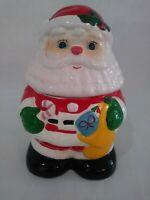 Vtg Christmas Figural Santa Claus Cookie Jar Taiwan 1970s Goldcircle Good Condit