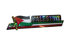 PALESTINE LONG COUNTRY FLAG  METALLIC BUMPER STICKER DECAL .. 11.75 X 3 INCH