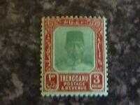 MALAYAN STATES TRENGGANU POSTAGE & REVENUE STAMP SG43 1926 $3 VLMM
