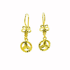 1pc EARING GOLD PLATED HOOK BENZZ CUTTING GLITTER ORIENTAL SPARKLE THAI STYLE