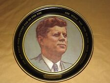 VINTAGE 1963 DANIEL GREENE JFK JOHN F KENNEDY METAL DISH PLATE SERVING TRAY