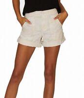 Sanctuary Women's Mini Shorts Cream Beige Size 31 Front Pocket Cargo $69 #174