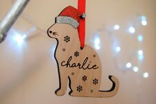 Cat Christmas Bauble, Personalised Cat Ornament, Cat Tree Decoration
