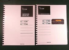 ICOM IC-736 Service & Instruction Manuals - Card Stock Covers & 32 LB Paper!