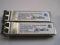 Lot Of 2 Finisar FTLF2528P2BCV-QL 8Gbps 850nm SFP Network Transceiver Module