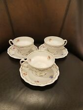 Set of 3 - Weimar Katharina 6018 Floral Cup and Saucer Sets