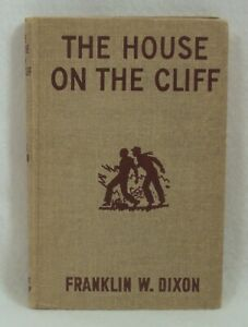 The Hardy Boys THE HOUSE ON THE CLIFF #2 tweed  HC c1959