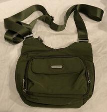 Baggallini Nylon Crossbody Bag Chartreuse Green Purse Handbag Organizer