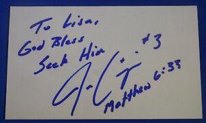 JOE CRISPIN signed auto autograph 3x5 Los Angeles Lakers Phoenix Suns 2001-02