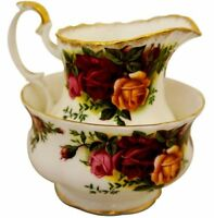 Royal Albert Old Country Roses - Small Milk Jug and Sugar Bowl  Made in England.