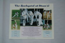 GREG IAN TREVOR CHAPPELL BROTHERS BACKYARDS AT MUMS HAND SIGNED PRINT