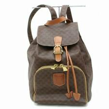 Celine Brown Macadam Monogram Mini Backpack 871534