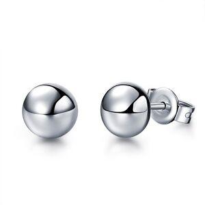 J.Lee Platinum 950 Stud Earring Woman's 5mm Half Ball Stud Earrings  Pt950