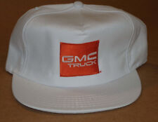 VINTAGE UNUSED 'GMC TRUCK' SNAPBACK CAP/HAT! NOS! WHITE! RED LOGO! MADE IN USA!