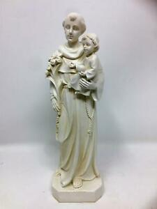 St Anthony with Baby Jesus Statue Religious Ornament Sculpture Catholic Figure