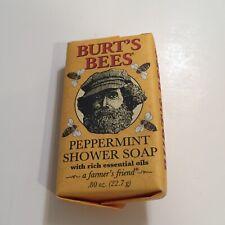 Burt's Bees PEPPERMINT SHOWER SOAP .80oz 22.7g Travel Farmer's Friend NEW