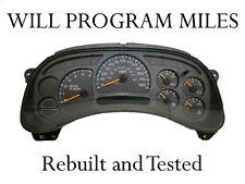 03-04 Chevy GMC Silverado Rebuilt Speedometer Gauge Cluster 15114649 *ANY MILES*