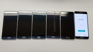 AS IS LOT OF 6 Samsung Galaxy Note5 SM-N920 32GB Black Sapphire U.S. Cellular