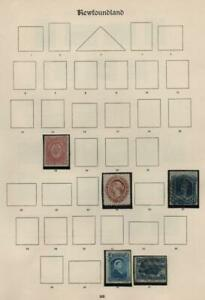 NEWFOUNDLAND: Victoria Examples - Ex-Old Time Collection - Part Page (40560)