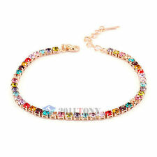 Made with Colourful Swarovski Crystal Bracelets 18K Rose Gold Plated Jewellery