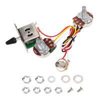 Electric Guitar Wiring Harness Kit Set 3 Way Toggle Switch 1 Volume 1 Tone 500K