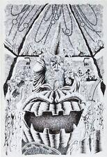 Original **** Lord Pumpkin/NecroMantra #3 Cover By Kyle Hotz Comic Art