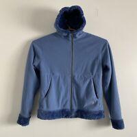 Mountain Hardware Womens L Full Zip Soft Fuzzy Fleece Lined Hoodie Jacket