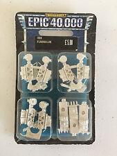 GAMES WORKSHOP WARHAMMER 40,000 EPIC ORK FLAKWAGONS METAL OOP BLISTER
