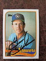 1989 Topps Tom Trebelhorn #344 - Milwaukee Brewers - Autographed!