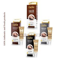 DELIA - HENNA Professional Color Cream EYEBROWS EYELASHES  tint KIT SET