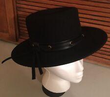 "NEUMANN ENDLER FairFelts 100% Wool Hat Union Made Black 21"""