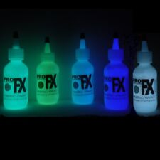 GLOW IN THE DARK FABRIC PAINT 5 COLOR SET HALLOWEEN GHOSTS ART DRAMA FREE GIFT