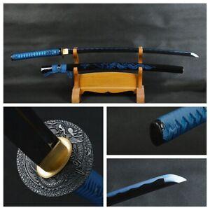 Dragon Sword Japanese Samurai Katana Noble Blue Carbon Steel Full Tang Sharp