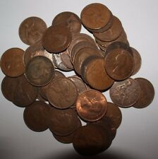 10 x OLD ENGLISH PENNY COINS - DIFFERENT DATES - 1911 TO 1967 - £1.35
