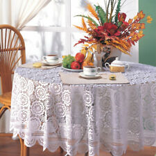 Vintage Lace Tablecloth Hand Knitted Floral Table Cloth Cover Home Dining Decor